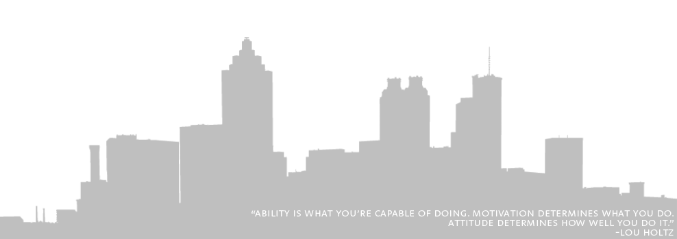 Atlanta Skyline Graphic and Quote
